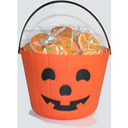 24 Nut-Free Halloween Cookies in Trick or Treat Pail