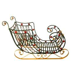 Plow and Hearth Green Sleigh