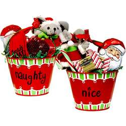 Naughty or Nice Christmas Candy Gift Pail