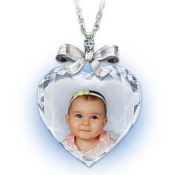 Personalized Photo Precious Jewel Diamond Necklace