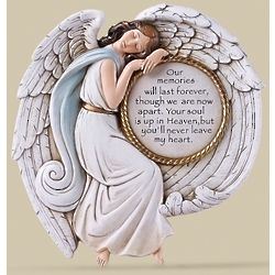 Memorial Angel Plaque with Sentiment