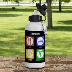 Personalized Eat, Sleep, Study Medical Student Water Bottle