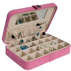 Pink Earring Jewelry Box
