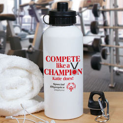 Compete Like a Champion Special Olympics Water Bottle