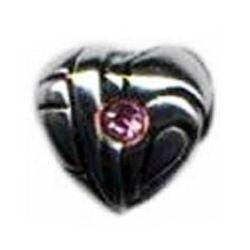 Pink Stone Heart Oriana Bead