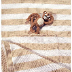 Monkey Pocket Baby Blanket
