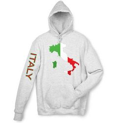 Italy Flag and Map Hooded Sweatshirt