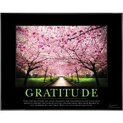 Attitude of Gratitude Cherry Blossoms Framed Motivational Poster