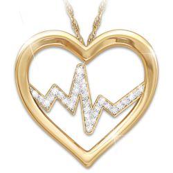 Heart of a Nurse Pendant with Swarovski Crystals
