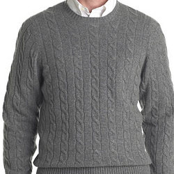 Men's Cashmere Cable Sweater