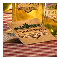 Personalized Wine Delights the Soul Coasters