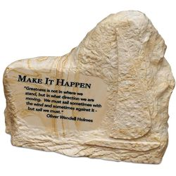 """Make It Happen"" Stone Image Paperweight"