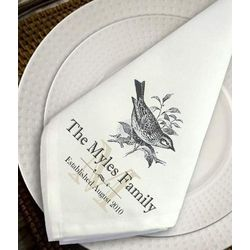 Personalized Sparrow Napkin Set
