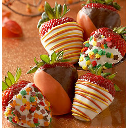 Fall Leaves Chocolate Dipped Strawberries
