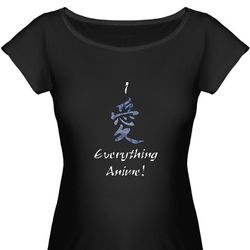 I Love Everything Anime Maternity T-Shirt