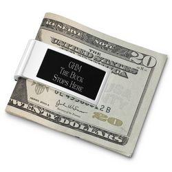 Black Matte Money Clip