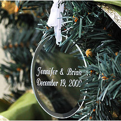 Personalized Glass Oval Holiday Ornament