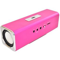 Mini Speaker with Mmicro SD Slot and FM Radio in Hot Pink