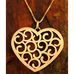 Thai Love Gold Plated Heart Necklace