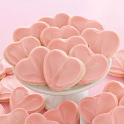 Box of 12 Frosted Heart Cutout Cookies