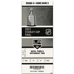 Los Angeles Kings 2012 Stanley Cup Mega Ticket Wall Hanging