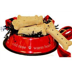 Santa Paws Large Dog Bowl Biscuit Gift Set