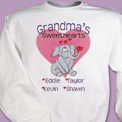 Elephant Sweethearts Personalized Sweatshirt