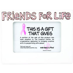 Pink Ribbon Friends for Life Picture Frame