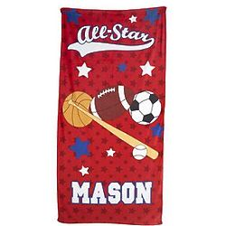Kid's All-Star Personalized Micro-Fiber Beach Towel