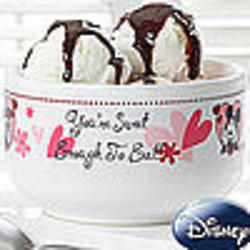 You're Sweet Personalized Mickey Mouse & Minnie Mouse Bowl