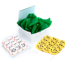 12 Pirate and 12 Baseball Smiley Cookies Gift Box