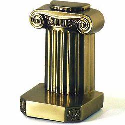 Doric Column Brass Bookends