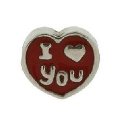 I Love You Red Heart Oriana Bead