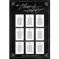 Chalkboard Print Personalized Seating Chart Kit