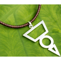 Men's Spearhead Geometry Sterling Silver Necklace