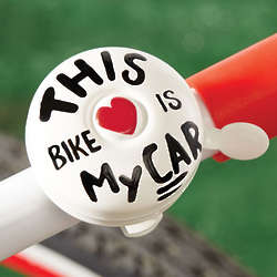 'This Bike Is My Car' Bicycle Bell
