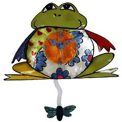 Colorful Metal Frog Wall Clock