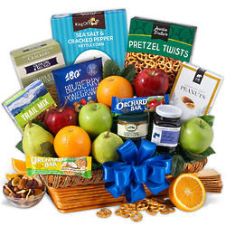 Fruit and Healthy Snacks Gift Basket