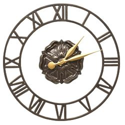 "Rosette Floating Ring Indoor/Outdoor 21"" Wall Clock"