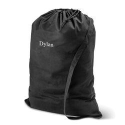 Personalized Cotton Laundry Bag in Black