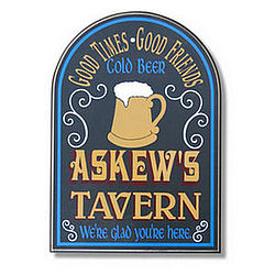 Personalized Rivertown Tavern Sign