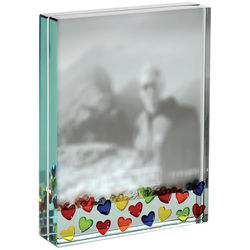 Lots of Hearts Large Glass Photo Frame