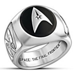 Star Trek Onyx and Diamond Ring