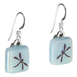 Glow in the Dark Dragonfly Earrings