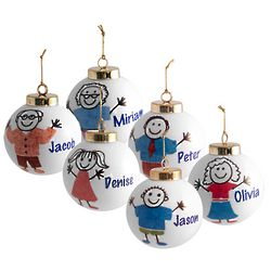 Personalized Family Member Christmas Ornament