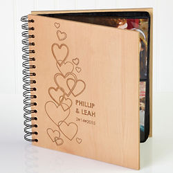 Personalized Hearts of Love Photo Album