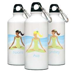 Personalized Go Girl Meditation Water Bottle