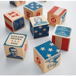 Handcrafted President Blocks