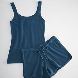 Blue Cashmere Tank and Short Set