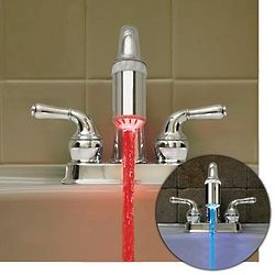 LED Three Color Faucet